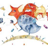 János Lackf's fairytale. Agnes and Transformers, 2012, akvarell, harilik pliiats, collage