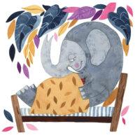 """Helena Koch. """"Loomaaed lasteaias"""", Päike ja Pilv, 2019, akvarell ja tušš"""