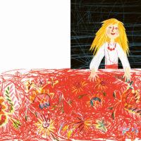 Kertu Sillaste. The Prettiest Skirt, Koolibri, 2019, coloured pencil, collage