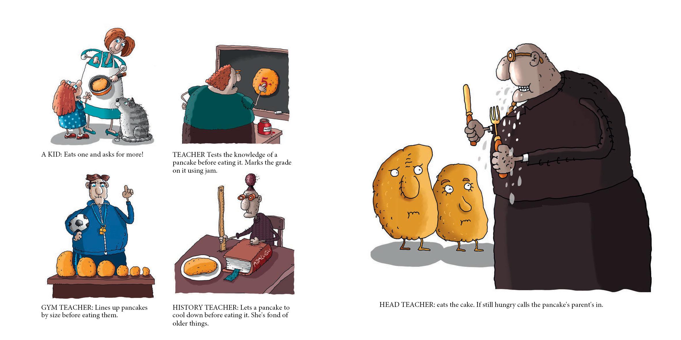 Hillar Metsa raamatu, Pannkoogid nalja ja naeruga, illustratsioon