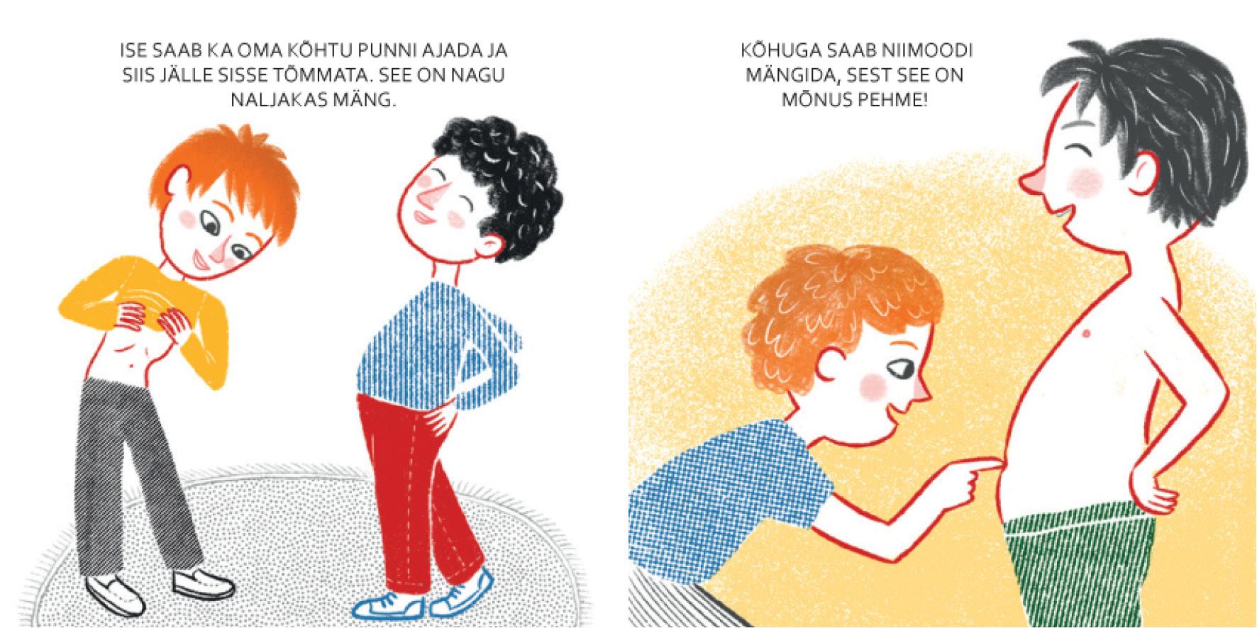 Elina Sildre raamatu, Minu kõht, illustratsioon
