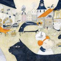Juhani Püttsepp. The Hand Organ Story, 2021, watercolour, lead pencil, collage
