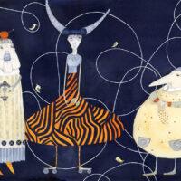 Piret Päär. Estonian Fairytales, Varrak, 2021, watercolour, lead pencil, collage